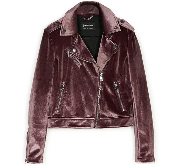 biker jacket catifea stradivarius