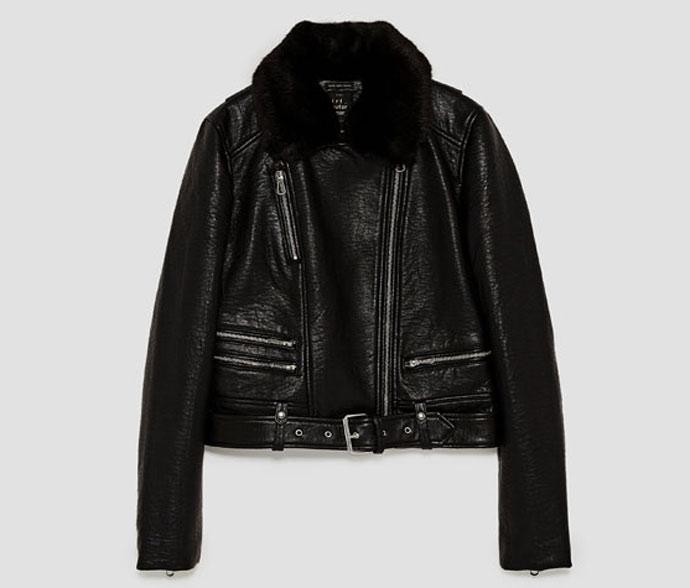 biker jacket zara