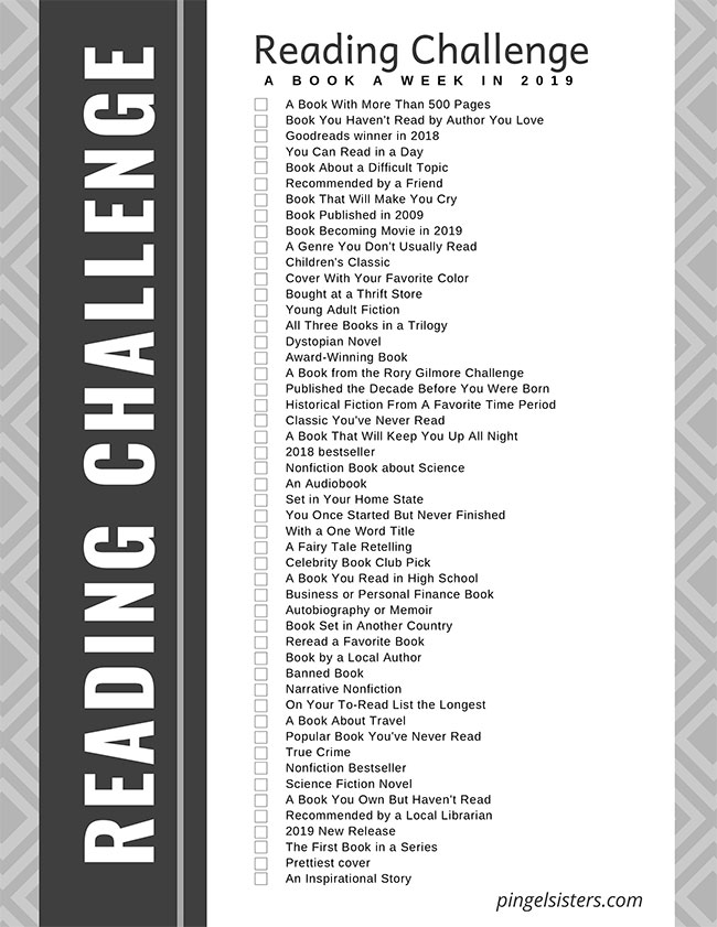 pingel sisters reading challenge 2019
